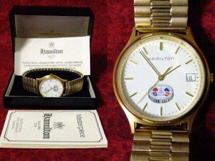 レアHAMILTONハミルトンフリーメイソンクォーツ式腕時計【M-919】