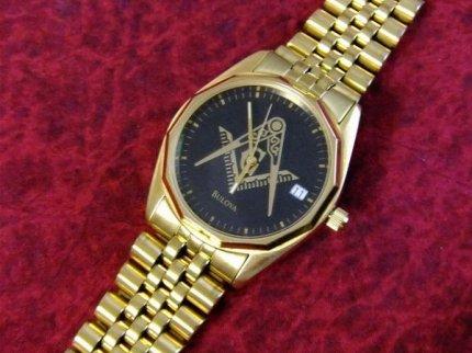 フリーメイソンBULOVAブローバクォーツ式腕時計【M-929】