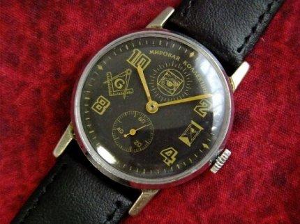ビンテージフリーメイソンソビエト手巻き腕時計【M-5480】【送料無料】