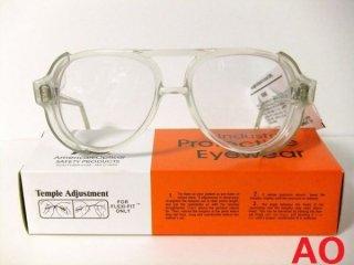 デッドストックAOヴィンテージアメリカンオプティカルティアドロップゴーグル眼鏡【サイドカバー取り外し可】【AO-3429】