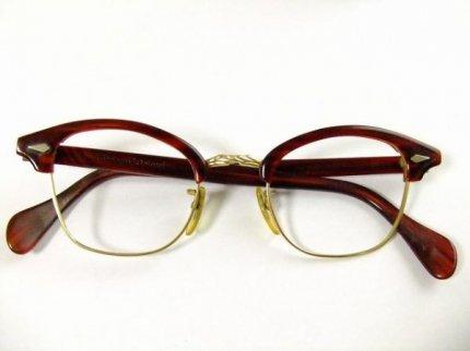 50'sビンテージAOアメリカンオプティカルウェリントン金張り12KGF眼鏡44□20 5 1/2AmericanOptical【AO-9649】【送料無料】