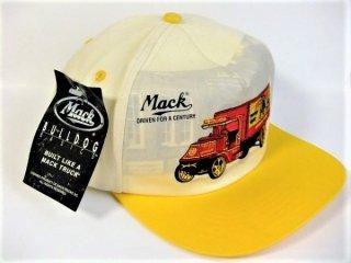 デッドストックMACKTRUCKマックトラックブルドッグオフィシャルキャップデッドストック帽子イエロー【M-8805】