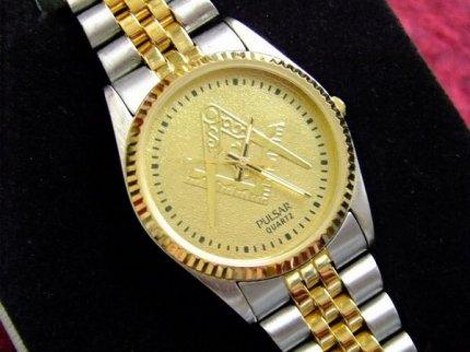 箱付きデッドストックフリーメイソンPULSARパルサー【SEIKO】セイコー腕時計【M-6297】【送料無料】
