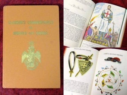 ビンテージ70'sフリーメイソン33最高階位テンプル騎士団古書歴史本【M-6337】