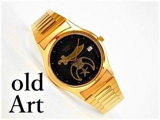 美品フリーメイソンBULOVAブローバクォーツ式腕時計【M-10170】