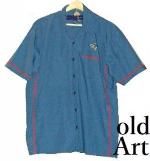 ヴィンテージフリーメイソンシュライナー刺繍ボーリングシャツ半袖【M-10364】