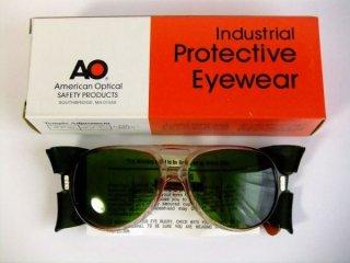 デッドストックヴィンテージAOアメリカンオプティカルティアドロップゴーグルメガネ眼鏡54 5 1/2【サイドカバー取り外し可】【AO-024】