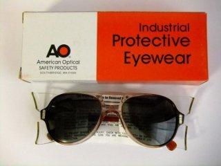 デッドストックヴィンテージAOアメリカンオプティカルティアドロップゴーグルメガネ眼鏡54□19【サイドカバー取り外し可】【AO-027】