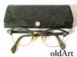 1950'sビンテージAOアメリカンオプティカルウェリントン金張り12KGF眼鏡44□22 5 1/2AmericanOptical【AO-10518】【送料無料】