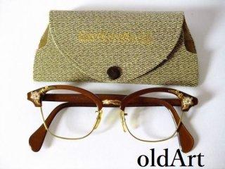 1950's美品ビンテージAOアメリカンオプティカルウェリントン金張り12KGF眼鏡44□20 5 1/2AmericanOptical【AO-10519】【送料無料】