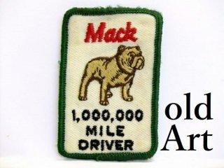 激レアビンテージマックトラックMACKTRUCKブルドッグ『1000000 MILE DRIVER』刺繍ワッペン【M-10566】