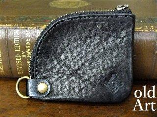 フリーメイソン牛本革コインケース小銭入れ財布【コンパス/ブラック】【M-10731】