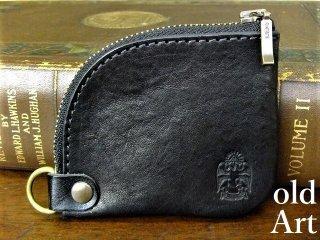 フリーメイソン牛本革コインケース小銭入れ財布【スコティッシュライト/ブラック】【M-10732】
