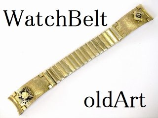 1940'sビンテージフリーメイソンテンプル騎士団USA製KREISLER社金張り腕時計ベルト17mm【M-10738】