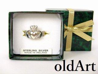 アイルランド製伝統的クラダリングスターリングシルバー製指輪21.5号【M-10754】