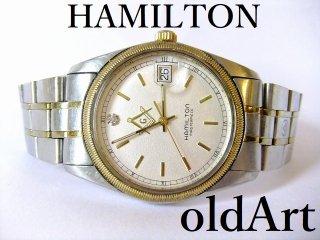 貴重フリーメイソン会員限定ハミルトンHAMILTONマスターピースクォーツ式腕時計【M-10808】