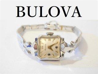 1955'sブローバBulova手巻き式レディース腕時計10KGFアンティークウォッチ【M-10860】