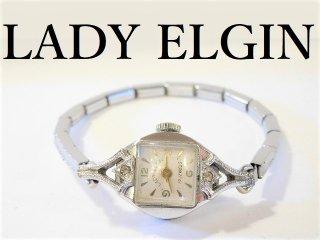 LADYELGINエルジン手巻き式レディース腕時計アンティークウォッチ19石【M-10862】