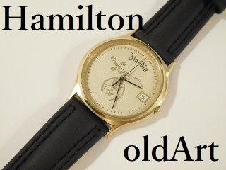 ヴィンテージフリーメイソンシュライナーハミルトンHAMILTONクォーツ式腕時計【M-10872】