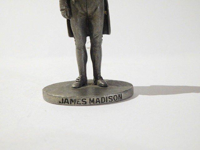 old Art  Antique&Vintage 第4代アメリカ合衆国大統領ジェームズ・マディソン肖像ミニオブジェペーパーウェイト【M-10919】
