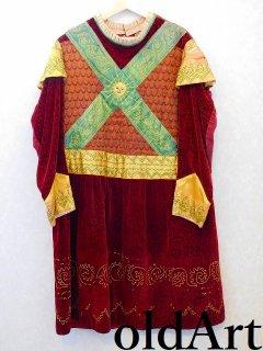 19世紀1898'sフリーメイソンビクトリアンアンティーク刺繍本物衣装コスチューム【M-10949】