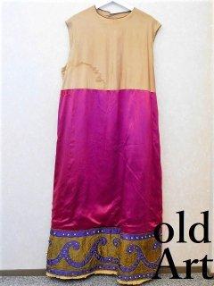 19世紀1800'sフリーメイソンビクトリアンアンティーク刺繍本物衣装ロングワンピースコスチューム【M-10952】