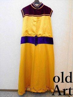 19世紀1800'sフリーメイソンビクトリアンアンティーク刺繍本物衣装ロングワンピースドレスコスチューム【M-10953】