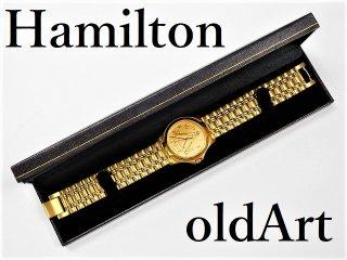 入手困難デッドストック1970年代フリーメイソン会員限定ハミルトンHAMILTONダイヤモンドクォーツ式腕時計【M-11023】