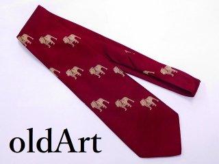 ビンテージMACKTRUCKマックトラックブルドッグ正規品オフィシャル総柄刺繍ネクタイ【M-11049】