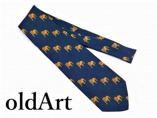 ビンテージMACKTRUCKマックトラックブルドッグ正規品オフィシャル総柄刺繍ネクタイ【M-11050】