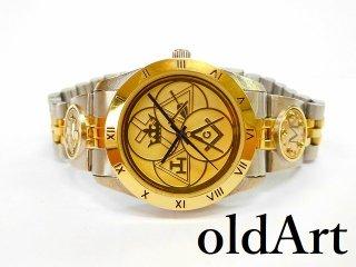 フリーメイソンヨークライト会員限定クォーツ式オフィシャル腕時計メンズウォッチ【M-11076】