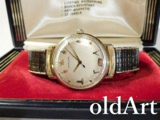 箱付き1960年代HAMILTONハミルトンフリーメイソン会員限定10KGF手巻き式ヴィンテージ金張り腕時計【M-11131】