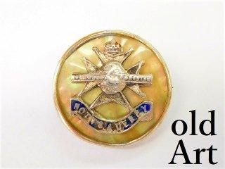 英国製アンティーク1910年代WW1当時物イギリス陸軍アールデコ銀製ブローチ【M-11197】