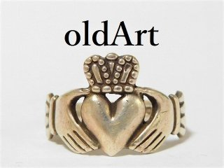 アイルランド製伝統的な指輪クラダリングSTERLINGシルバー製20号【M-11460】