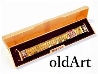 デッドストック1950年代ビンテージフリーメイソンシュラインUSA製金張り腕時計ベルト15mm【M-11361】