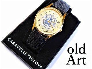ヴィンテージフリーメイソンスコティッシュライトBULOVAブローバCARAVELLEクォーツ式腕時計【M-11515】