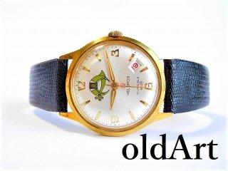ヴィンテージ1968年代フリーメイソンシュライナーHELBROSヘルブロス手巻き式オフィシャル腕時計【M-11634】