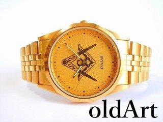フリーメイソンPULSARパルサーSEIKOセイコークォーツ式メンズ腕時計【M-11635】