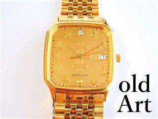 入手困難フリーメイソンテンプル騎士団ハミルトンHAMILTON会員限定クォーツ式メンズ腕時計【M-11647】
