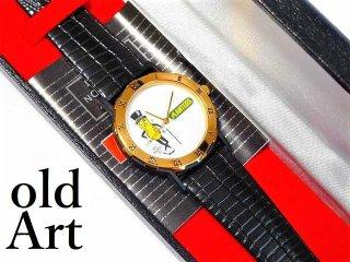 ビンテージ1993'sプランターズ社MR.PEANUTミスターピーナッツクォーツ式腕時計【M-11666】