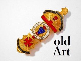 1900年代初期アンティークフリーメイソンテンプル騎士団勲章十字架バッジ徽章【M-11756】
