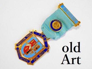英国製1968年代ヴィンテージフリーメイソンオフィシャル勲章バッジ【M-11775】