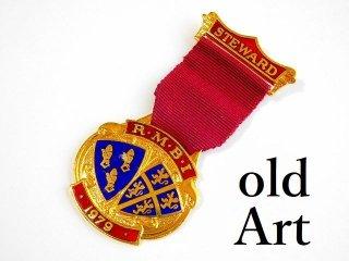 英国製1979年代ヴィンテージフリーメイソンオフィシャル勲章バッジ【M-11776】
