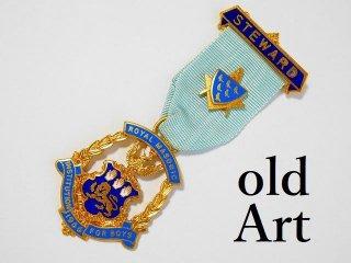 英国製1966年代ヴィンテージフリーメイソンオフィシャル勲章バッジ【M-11782】
