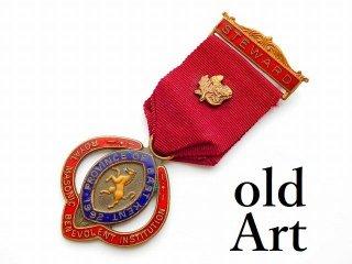 英国製1990年代ヴィンテージフリーメイソンオフィシャル勲章バッジ【M-11784】