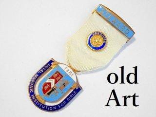 英国製1981年代ヴィンテージフリーメイソンオフィシャル勲章バッジ【M-11800】