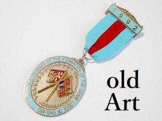 英国製1992年代フリーメイソンオフィシャル勲章バッジ【M-11811】