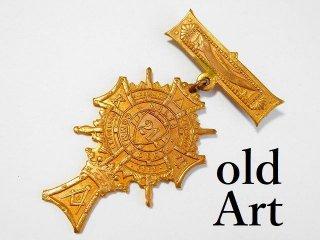 1853年代アンティークフリーメイソンテンプル騎士団勲章バッジ 【M-11786】