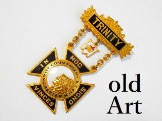 1900年代初頭アンティークフリーメイソンテンプル騎士団勲章バッジ 【M-11770】