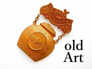 1904年代アンティークフリーメイソンテンプル騎士団勲章バッジ 【M-11764】